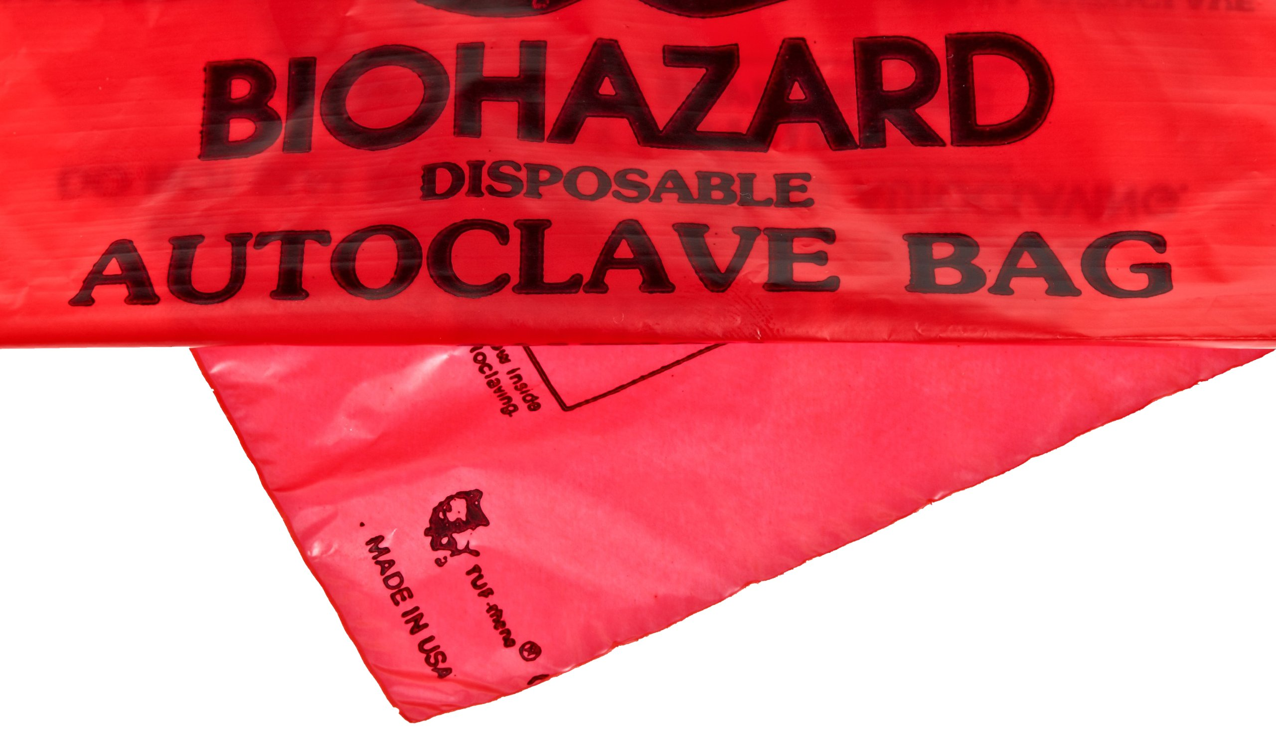 Bel-Art F13166-0000 Bench-Top Biohazard Bags; Red Polyethylene, 0.43 Gallon, 8.5W x 11 in. H, 0.018mm Thick (Pack of 100) by SP Scienceware