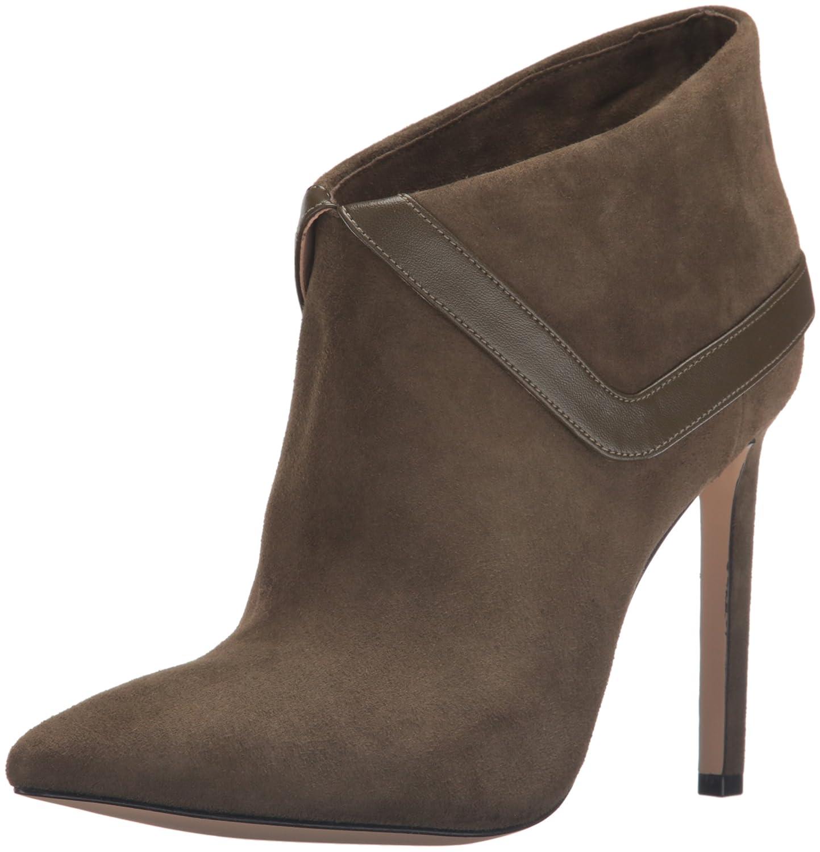 Nine West Women's Tailya Suede Ankle Bootie B01ES57UQ4 7.5 B(M) US|Dark Green