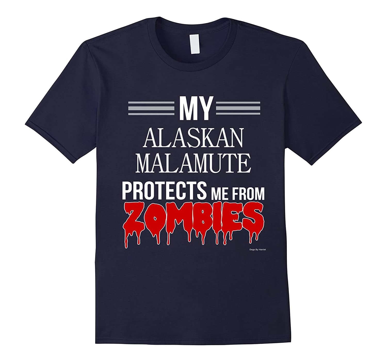 Funny Zombie Alaskan Malamute - Dog Shirt-TH