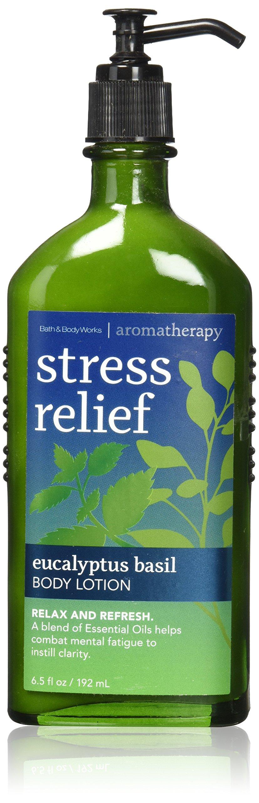 Bath & Body Works Aromatherapy Stress Relief Eucalyptus Basil Body Lotion 6.5 Oz. by Bath & Body Works