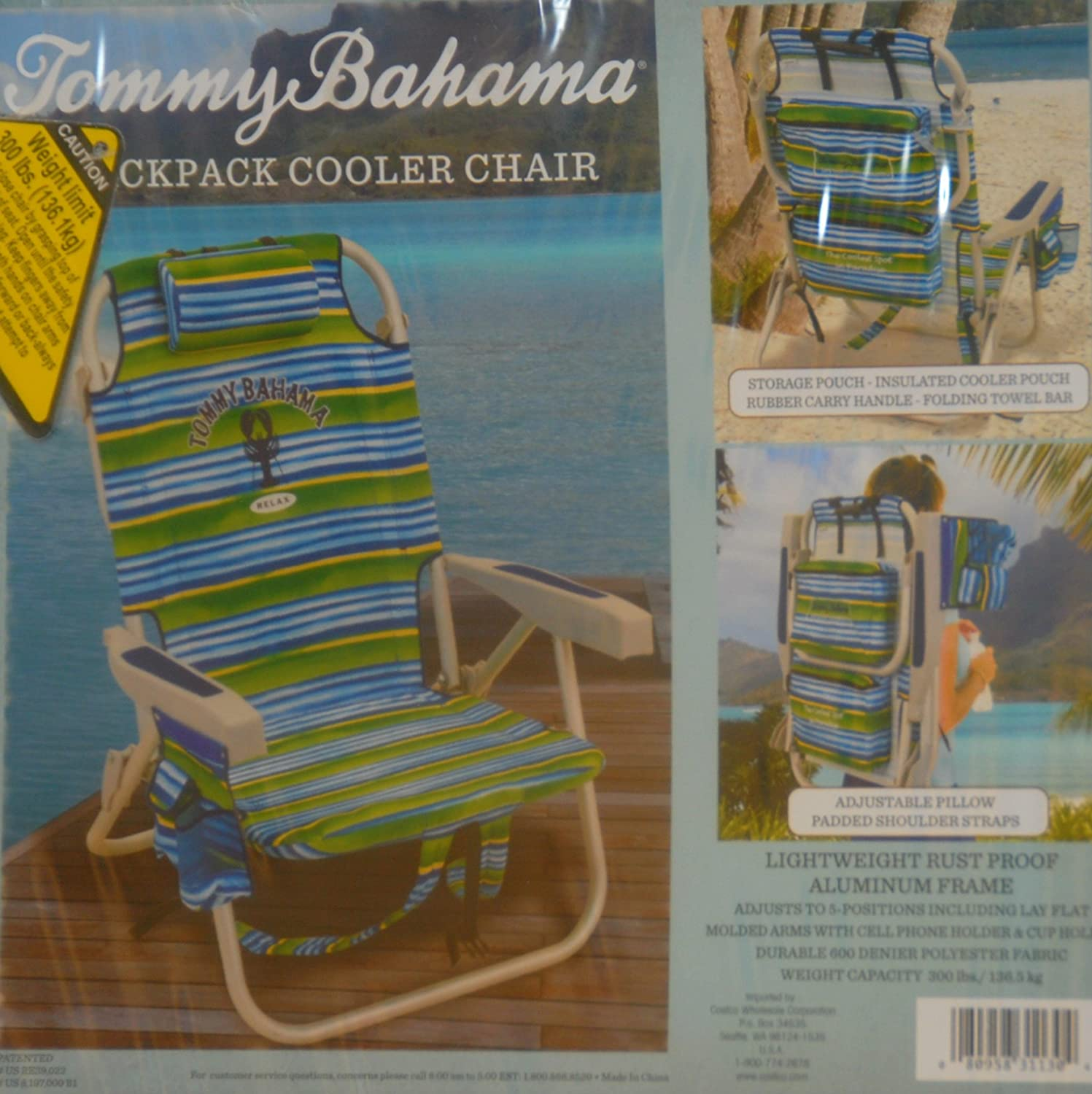Amazon Tommy Bahama Backpack Cooler Chair Striped Camping