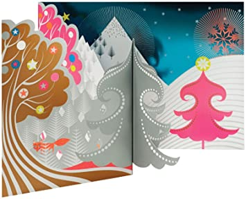 moma foxy mountain pop up holiday cards by peagreen - Moma Holiday Cards