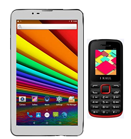 I KALL N3 Inbuilt speaker Tablet with K11 Red  Dual Sim Feature phone Computers   Accessories