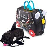 Trunki Bundle: Pedro Pirate Ride-on Suitcase + Kaito the Whale Kid's Swim Bag