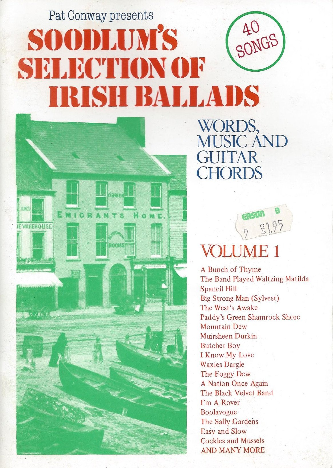 Soodlums Selection Of Irish Ballads Words Music Guitar Chords