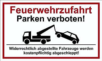 Parken auf eigene Gefahr Hinweis und Verbotsschild PST-Kuns 150 x 250 mm Warn