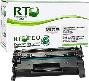 Renewable Toner Compatible MICR Toner Cartridge Replacement for HP 26A CF226A Laserjet Pro M402 M426
