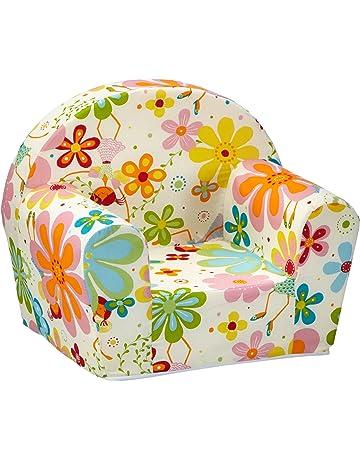 sun garden 10093234 Ludger - Sillón para niños, diseño floral, color blanco