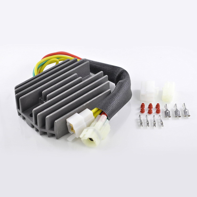 Voltage Regulator Rectifier For Arctic Cat 375 400 500 cc/Suzuki SV 650 SV 1000 VStrom 650 2000-2010 OEM Repl.# 32800-16G00 32800-16G01 32800-16G02 3402-682 3530-028 3530-059 RaceTech Electric