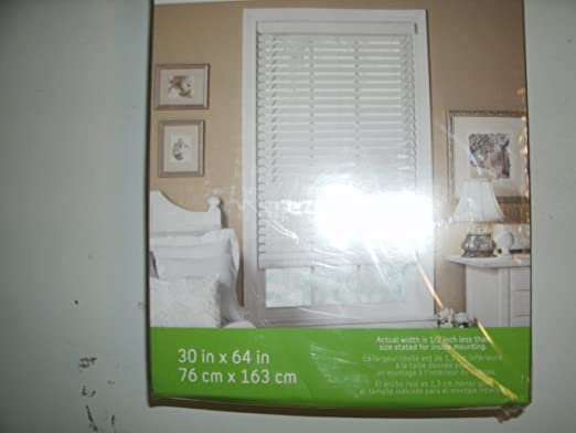 amazoncom style selections 30 w x 64 l white faux wood 2 slat room item 92768 model pb3064w upc 054708313061 home kitchen