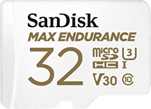 SanDisk 32GB MAX Endurance microSDHC Card with Adapter for Home Security Cameras and Dash cams - C10, U3, V30, 4K UHD, Micro SD Card - SDSQQVR-032G-GN6IA