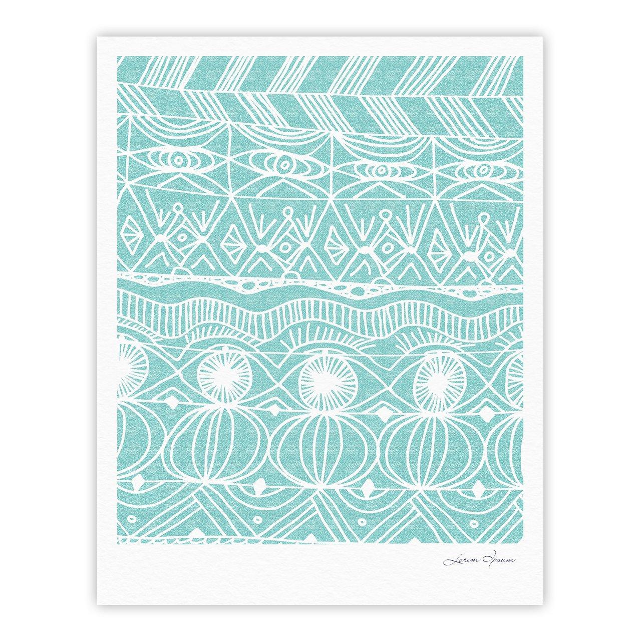 Kess InHouse Catherine Holcombe Beach Blanket Bingo Gallery Art Print, 24 by 36-Inch