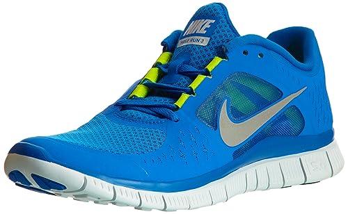 1fbff6fe83860 Nike Free Run Men s Blue +3 Shoes 510642-401-Size-9.5 UK  Buy Online ...