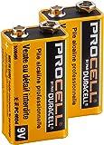【DURACELL】PROCELL デュラセル プロセル 9V電池 エフェクター/楽器用アルカリ電池 2個セット DP-9V-2pcs