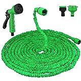 Vegbirt Flexibler Gartenschlauch,100 FT 30m FlexiSchlauch Wasserschlauch Schlauch Flexi Dehnbarer Wasserschlauch - Update Grün Gartenschlauch
