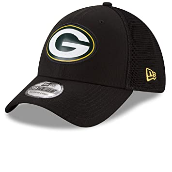 42674d8283e Green Bay Packers Fan Mesh 39THIRTY Stretch Fit Hat - Black - Size  Medium Large  Amazon.ca  Sports   Outdoors