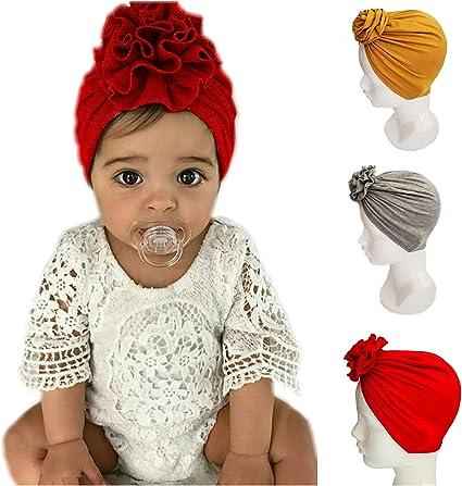 Karu Discriminación sexual Disponible  3 Gorritos turbante para bebe niña Gorro HECHO A MANO (Gris, Rojo, Mostaza)  Diademas Invierno Frio Recién Nacida: Amazon.com.mx: Bebé