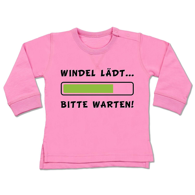 Shirtracer Sprüche Baby - Windel lädt - Baby Pullover BZ31