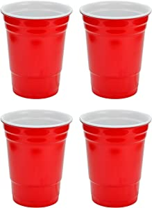 Fairly Odd Novelties 16oz Red Cup Made Out Of Melamine 4 Pack Living It Large Drink Solo or With A Friend