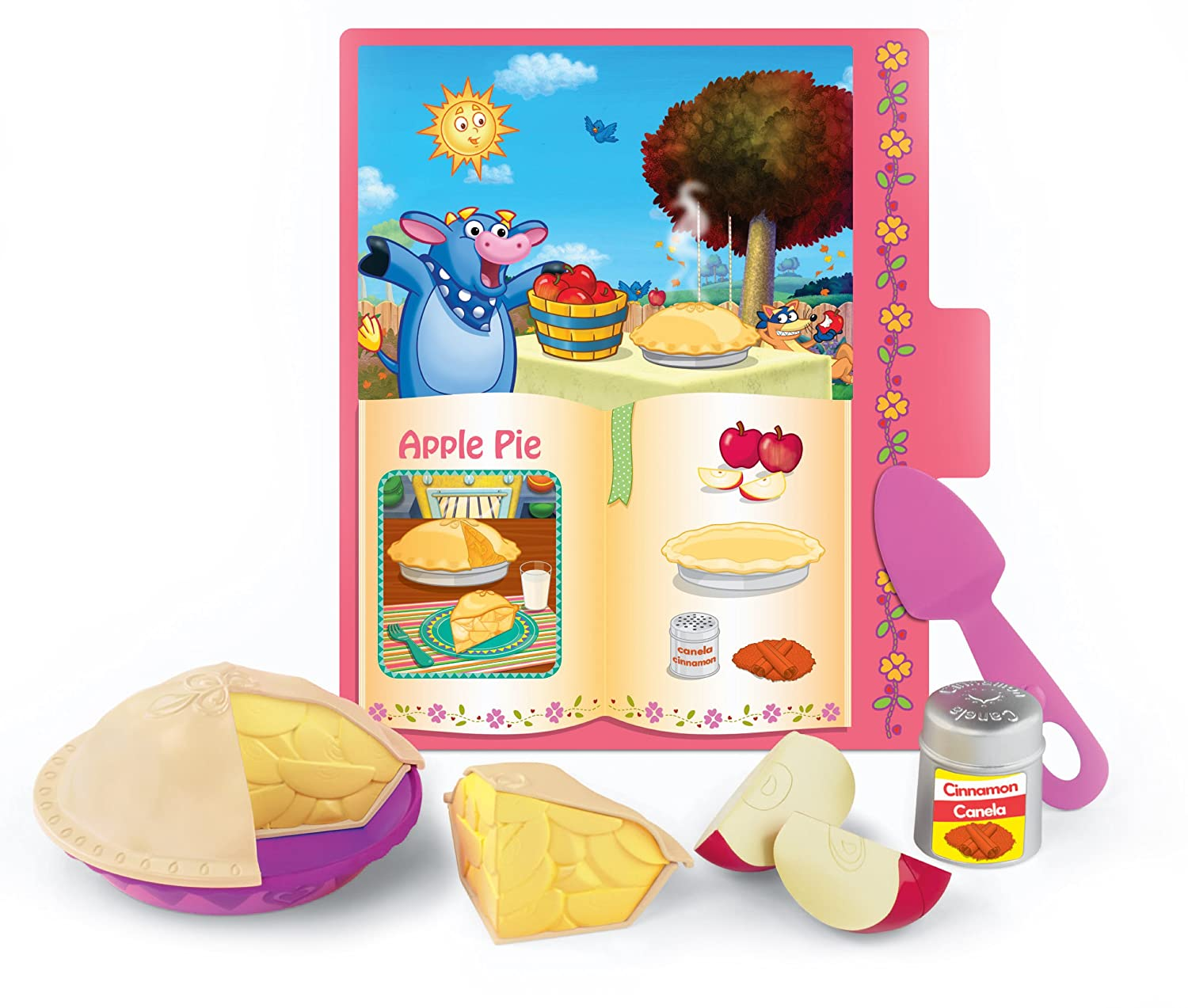 Amazon.com: Fisher Price Dora The Explorer Fiesta Favorites Kitchen Food    Apple Pie: Toys U0026 Games