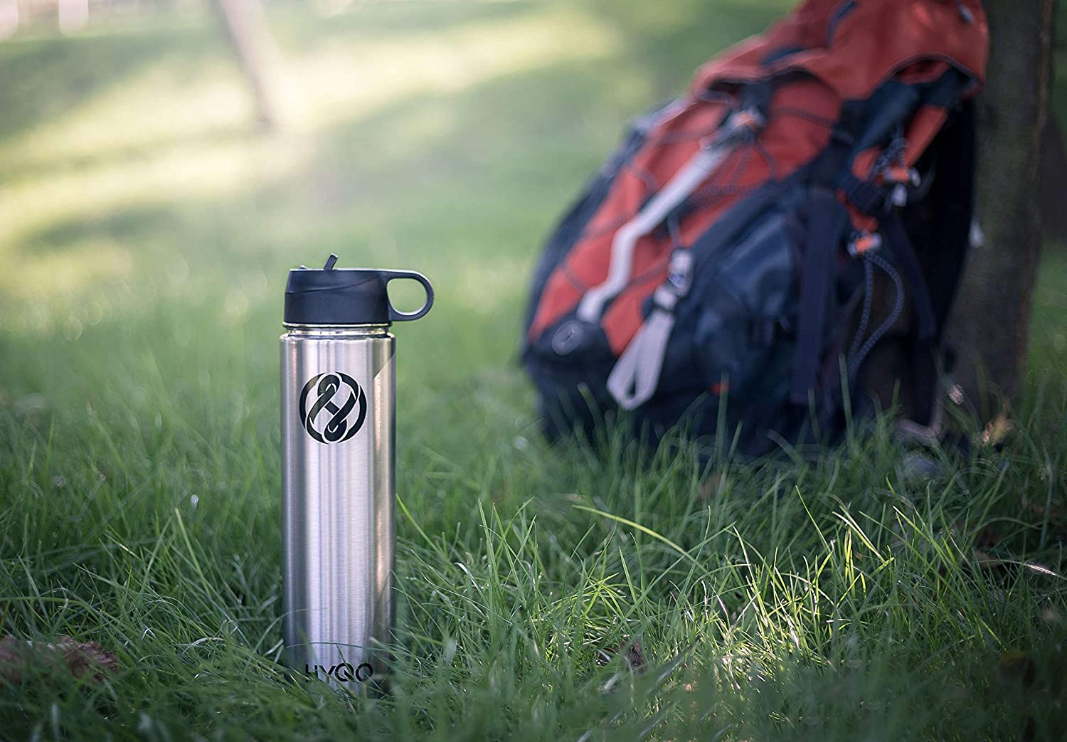 HYQO Insulated Stainless Steel Water Bottle Cold 48 Hrs Hot 24 Hrs Extra Flip /& Drink Lid 26 Oz Double Wall Vacuum Leak Proof Metal Water Bottle with Straw