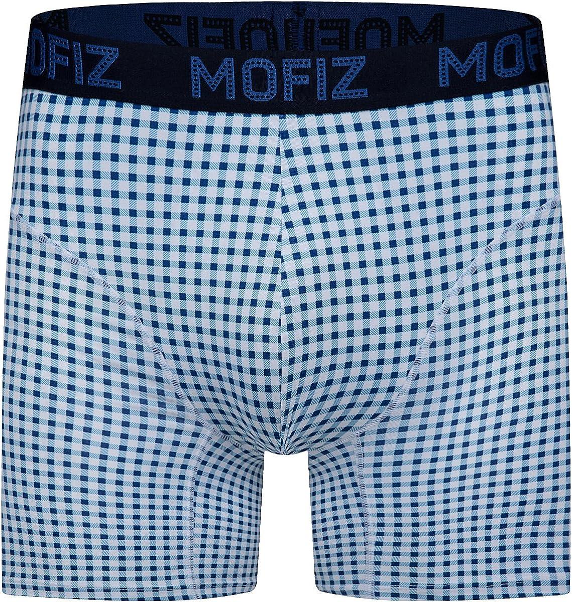 MoFiz Men/'s Stretch Boxer Briefs Short Leg Comfy Cotton Underwear