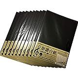 リズムピアノ 楽譜台紙 4面 A4サイズ 【10部セット】 (タイトルシール付き、直接貼り付けタイプ、切っても使える)