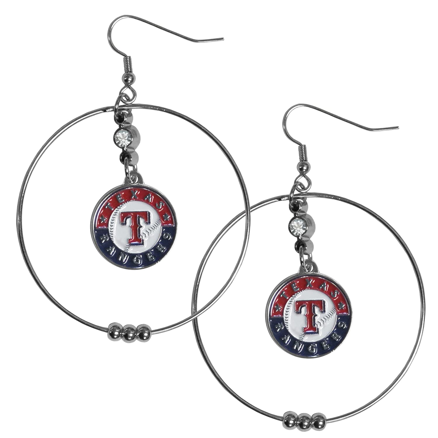 Siskiyou MLB 2 inch Hoop Earrings