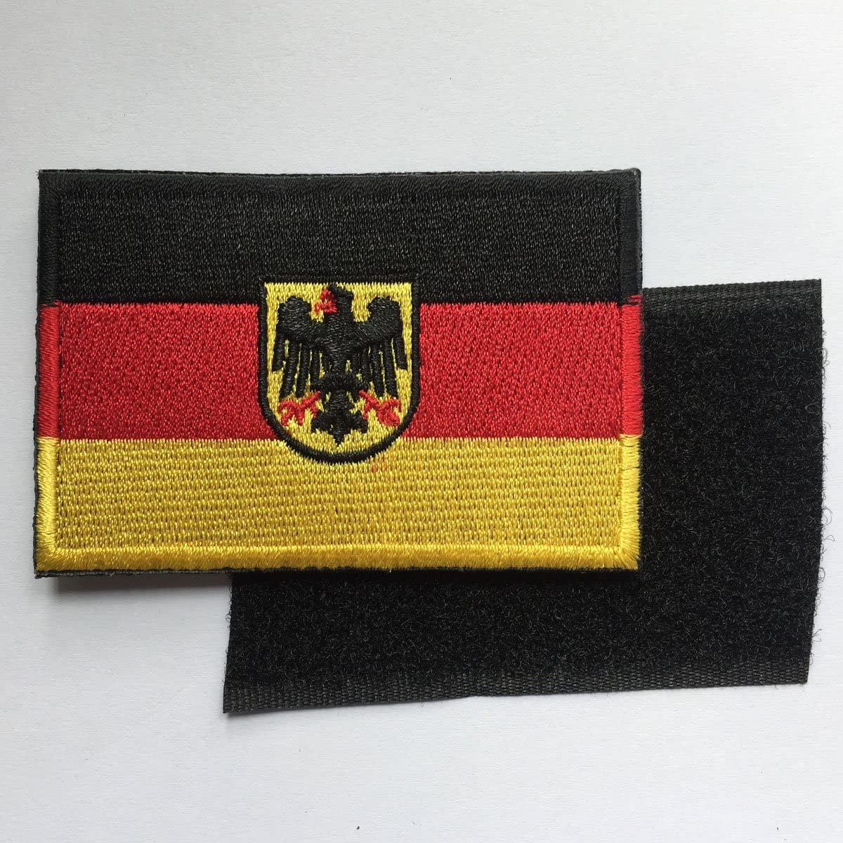 SpaceAuto Bundle 2 Pieces Flag of Germany Military Tactical Morale Badge Hook /& Loop Badge Patch 3 x 2
