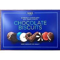Marks & Spencer Extremely Chocolatey Milk Dark & White Chocolate Biscuits 450G