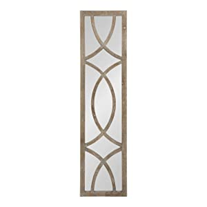Kate and Laurel Tolland Extra Long Decorative Wooden Panel Wall Mirror