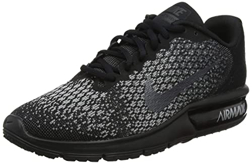 cheap for discount 0334c a5d96 Nike Wmns Air Max Sequent 2, Scarpe Running Donna, Multicolore (Black Mtlc