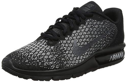 promo code b567a 9fee6 Nike Wmns Air Max Sequent 2, Scarpe Running Donna, Multicolore (Black/Mtlc