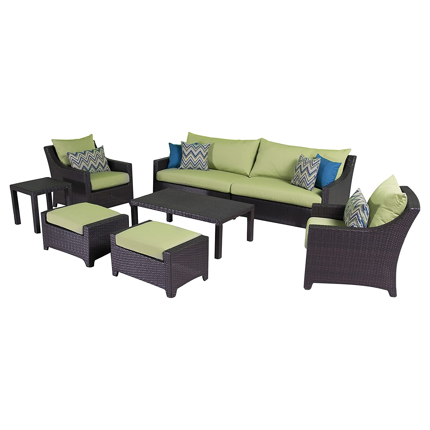 Amazon RST Brands Deco 8 Piece Sofa and Club Chair Deep