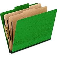 Pendaflex Moisture-Resistant Classification Folders, Letter Size, Green, 10 Count (Pack of 1)