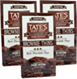 Tates Bake Shop, Brownie Thins Rich Chocolate Chip Gluten Free, 5 Oz (Pack of 3)