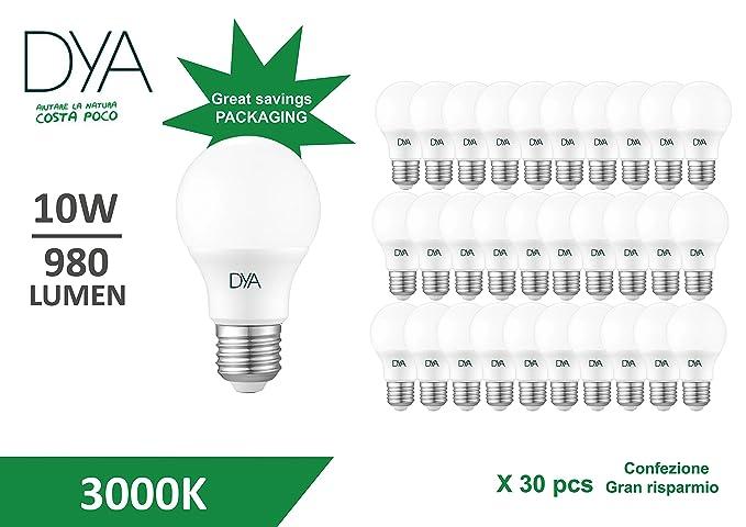 Juego 30 bombillas, envase de gran ahorro – Gota LED 10 W – E27 –