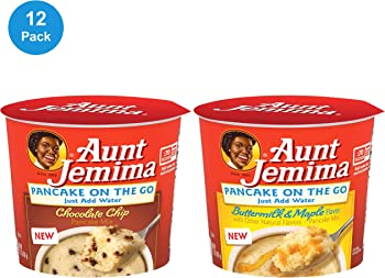 12-Pack Aunt Jemima Pancake Cups 2 Flavor Variety Pack