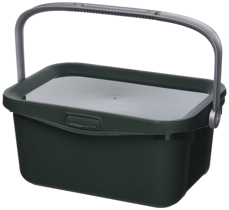 Curver 00363–208–00Bio Box 25,7x 17,7x 11,3cm contenitore in plastica 3L, verde/argento 00363-208-00