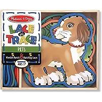 Melissa & Doug Lace and Trace Pets Activity Set, Multicolor, Preschool (3782)