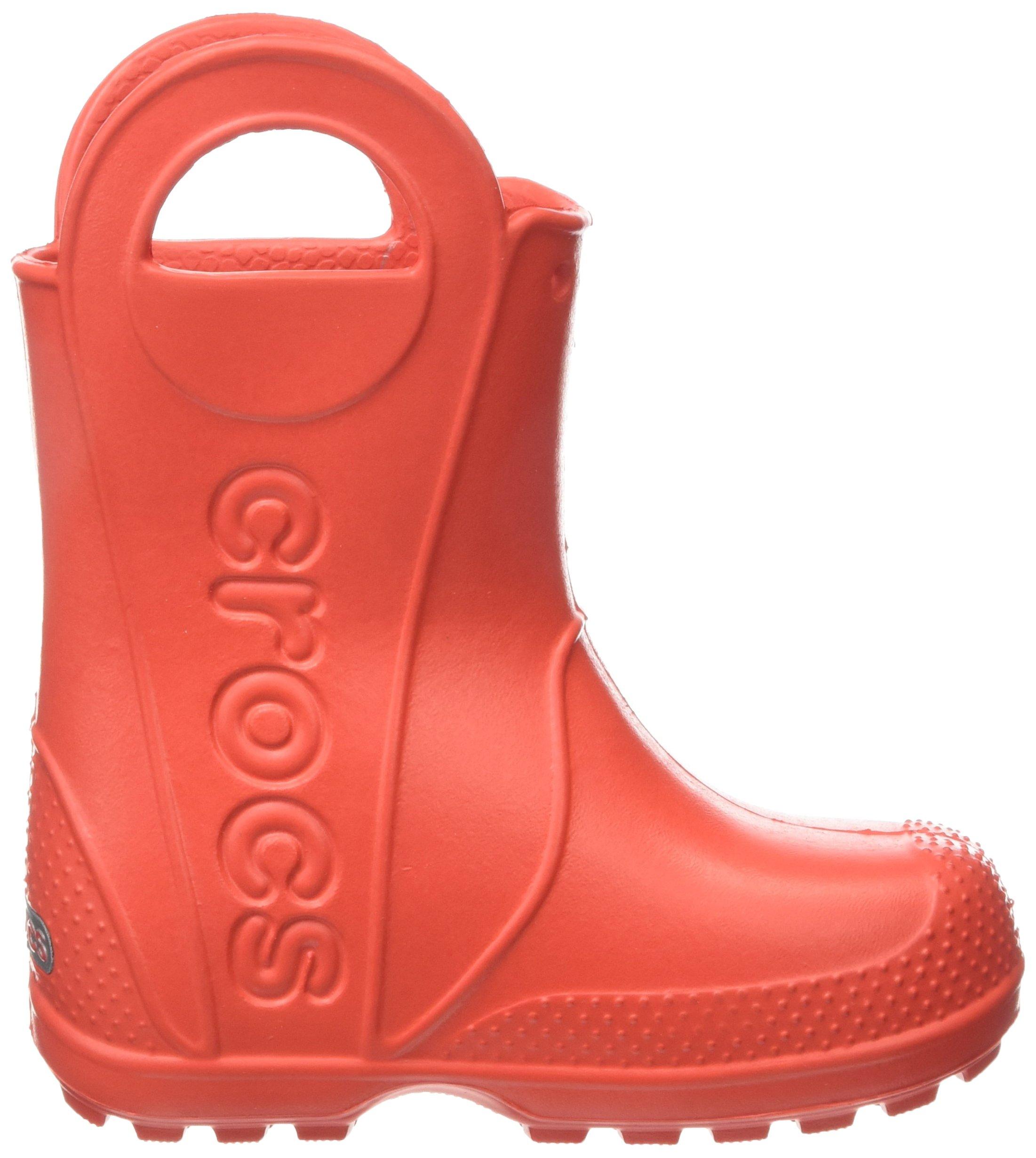 Crocs Kids' Handle It Rain Boot, Flame, 8 M US Toddler by Crocs (Image #7)