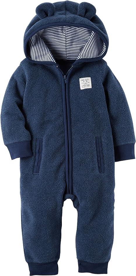 6 MONTHS NEW Carter/'s Baby Boy/'s 1 piece Fleece Jumpsuit 9 MONTHS