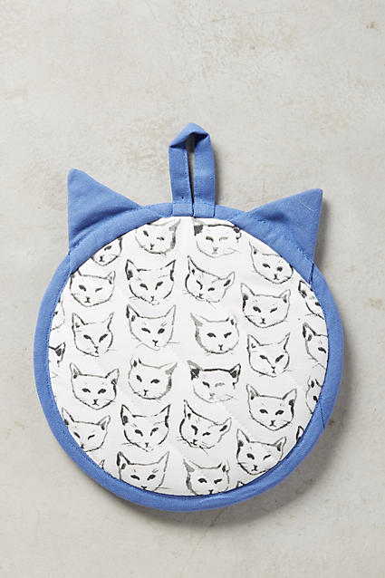Cat Study Potholder - anthropologie.c​om