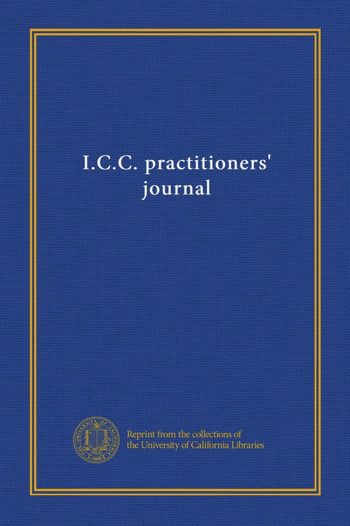 Download I.C.C. practitioners' journal (v.38 no.4 (1971)) PDF