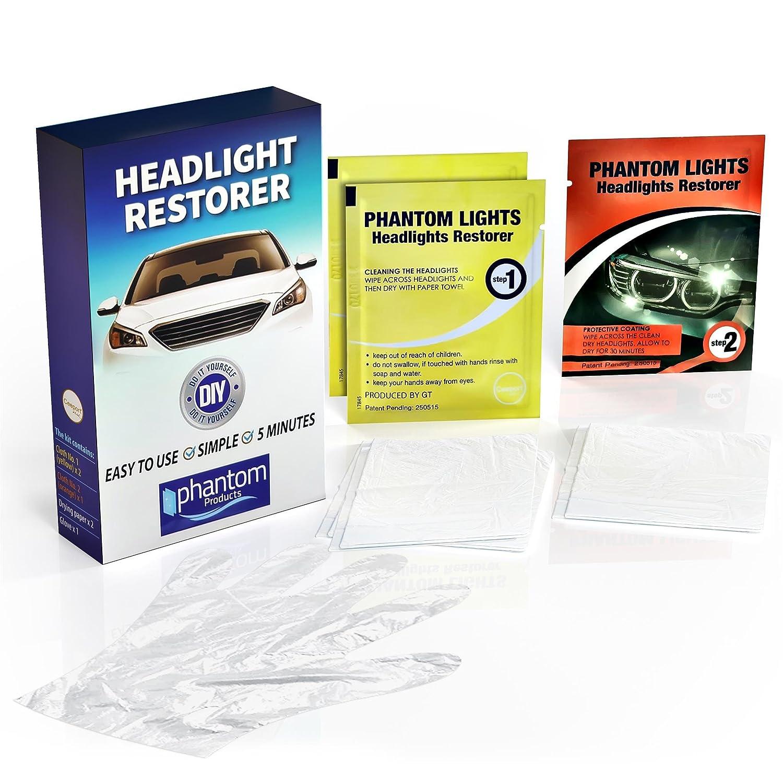 Phantom lights headlight restoration cleaning wipes