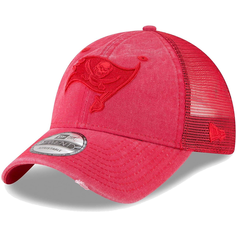 Amazon.com   Tampa Bay Buccaneers New Era Tonal Washed Trucker 9TWENTY  Adjustable Snapback Hat Red   Sports   Outdoors dc757ef4b