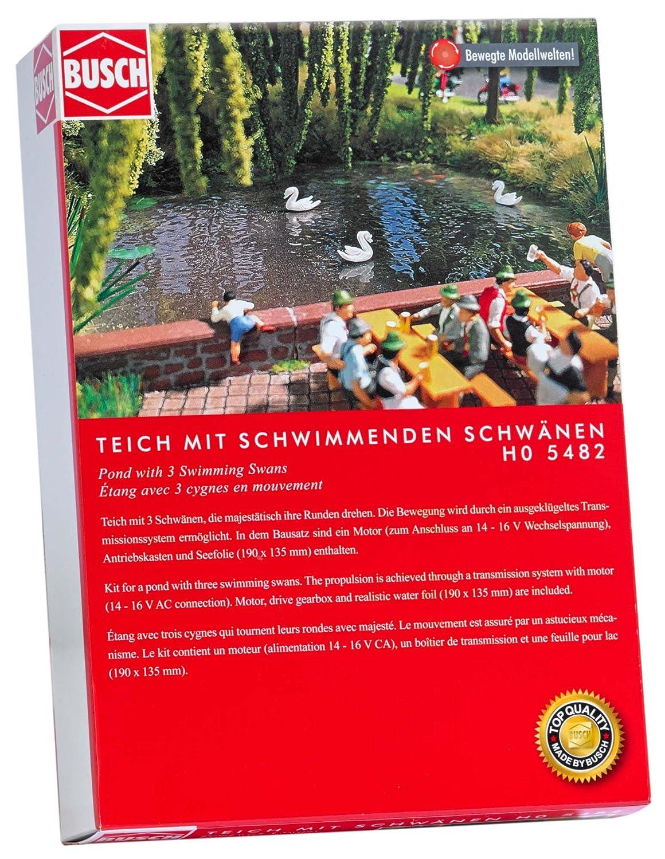 Busch 5482 stagno con 3 nuoto cigni ho scenario modello scala