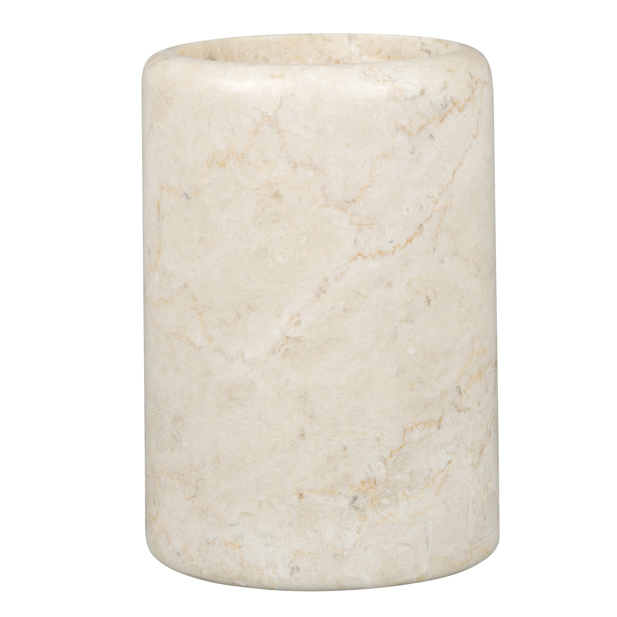 Creative Home Genuine Champagne Marble Stone Tumbler, Spa Collection