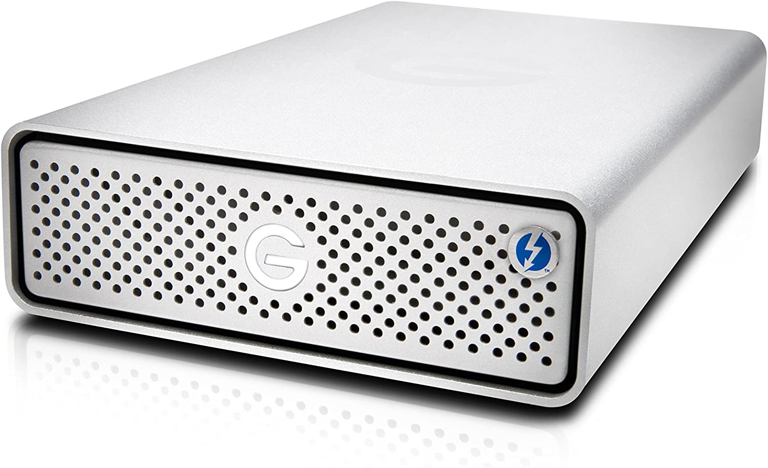 G-Technology 4TB G-DRIVE with Thunderbolt 3 and USB-C Desktop External Hard Drive, Silver - 0G05363-1
