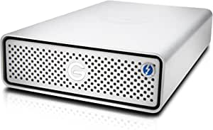 G-Technology 10TB G-DRIVE with Thunderbolt 3 and USB-C Desktop External Hard Drive, Silver - 0G05378-1